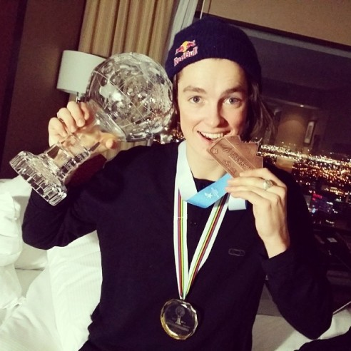 Scotty and his world champion Crystal Globe